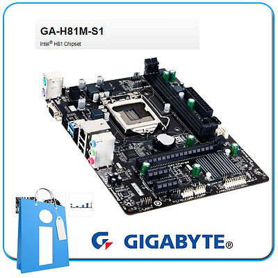 Placa base mATX H81 GIGABYTE GA-H81M-S1 Socket 1150 con DEFECTO en LAN y Audio