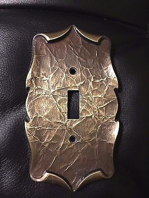 Vintage Amerock Carriage House Antique Brass Single Switch/Toggle Cover Plate