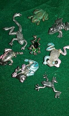 frog pins, eight assorted