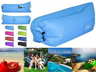 Inflatable Lounger Hammock Air bed Beach Holiday Garden Traveling Camping Hiking