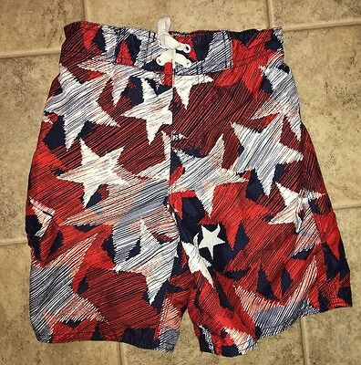 Boys American Stars Red White Blue Trunks Size 6 7 Small Joe Boxer