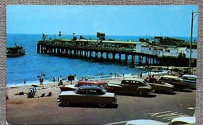 El Paseo and Pier Redondo Beach - classic american card 1958