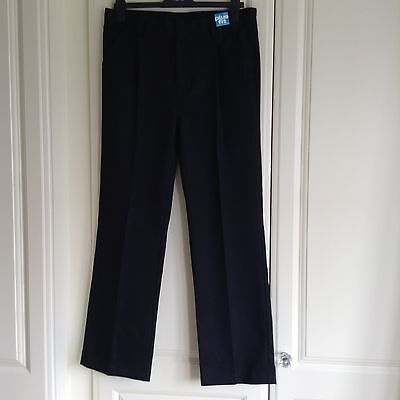 New With Tags Boys Next Generous Fit Black School Trousers Age 15