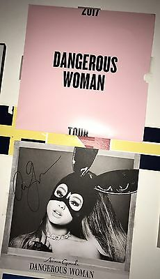 Ariana Grande Dangerous Woman Tour VIP Signed Poster AUTHENTIC NEW