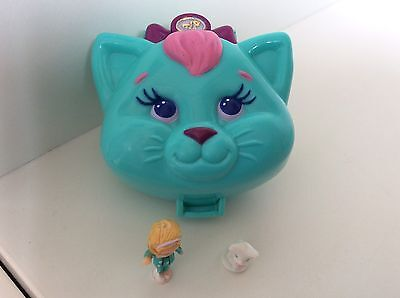 Vintage Polly Pocket CUDDLY KITTY 100% Complete 1993