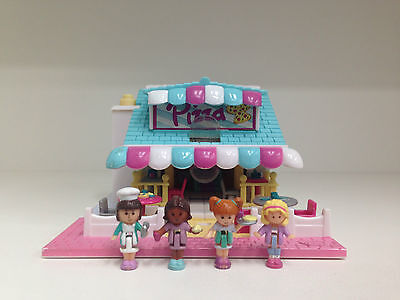 POLLY POCKET Vintage Bluebird 1993 LIGHT UP Pizzeria Pizza Place **COMPLETE**