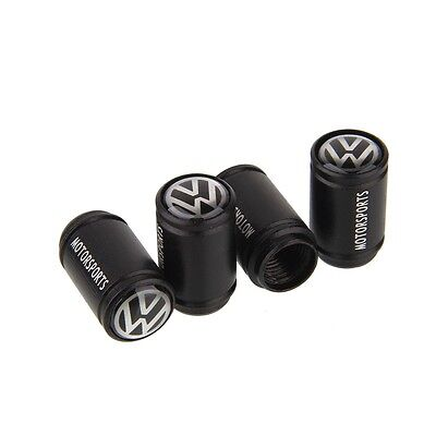 Frosted Black Car Wheel Tire Valve Caps Tyre Stem Air Caps Styling For VW b 4Pcs