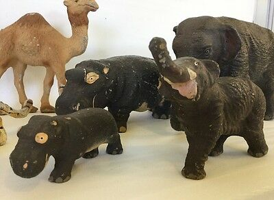 Antique Vintage Composition Grouping of 15 Zoo Animals Must See!!!