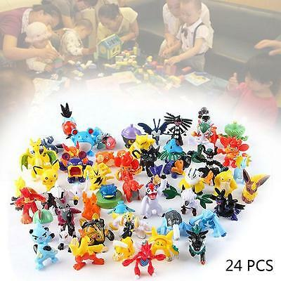 24PCS Wholesale Lots Cute Pokemon Mini Random Pearl Figures New Hot Kids Toy XZ