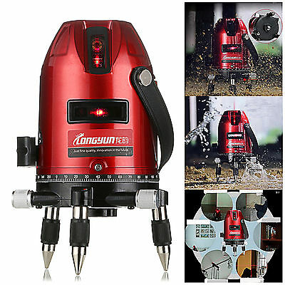 5 Line 6 Point 4V1H Laser Level Measure  Automatic Self Leveling Red