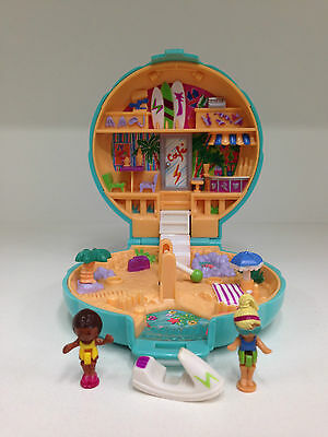 POLLY POCKET Vintage Bluebird 1989 Beach Party **COMPLETE w/ GOLD LOGO VISIBLE**