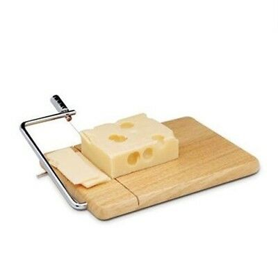 Apollo Cheese Slicer Rubber Wood Wooden Board With Wire Cutting Handle