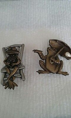 frog brooches, J J