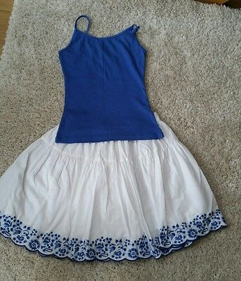 Girls skirt and vest top set age 11