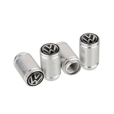 4pcs Car Wheel Tire Valve Caps Tyre Stem Air Caps Styling VW b Frosted Sliver