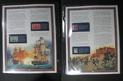America History First Day Cancel USPS Mint Stamp Great Britain 1812 War 4 Page ✪
