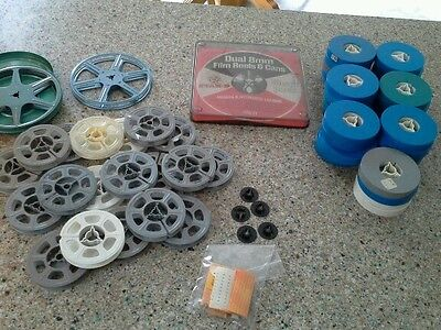 Large Lot of 8mm Film Reels ...Metal, Plastic, Some with Lids