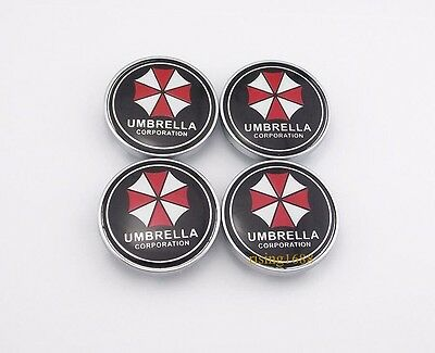60mm Car Wheel Center Cover Hub Cap Resident Evil UMBRELLA CORPORATION 4pcs 6019