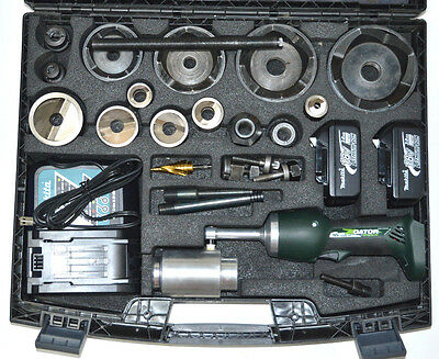 Greenlee LS100L11SB4SP Punch Kit with Mild Steel Speed Punch In Case - Excellent