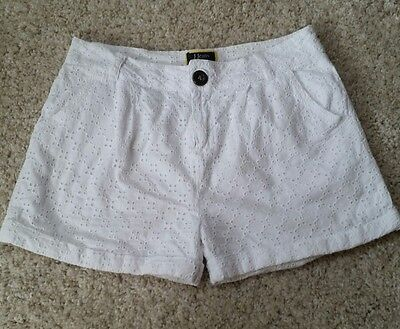 White broderie anglaise shorts age 11