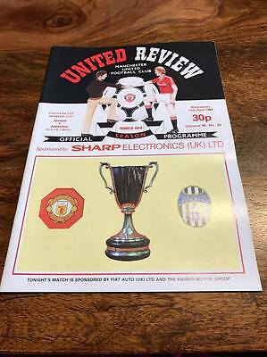 Manchester United V Juventus 1984 European Cup Winners Cup Semi Final Programme
