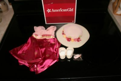 American Girl Rebecca Movie Dress Hat Shoes