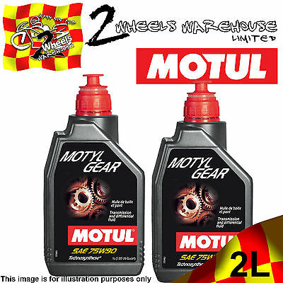 2x 1L MOTUL MOTYLGEAR SAE 75W90 DIFFERENTIAL & GEAR BOX SEMI SYNTHETIC FLUID OIL