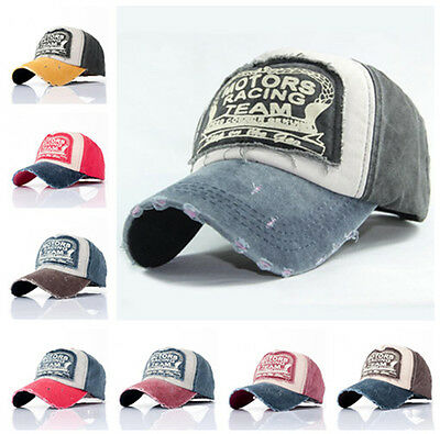 Unisex Vintage Baseball Cap Men Women Adjustable Denim Distressed Trucker Hat UK