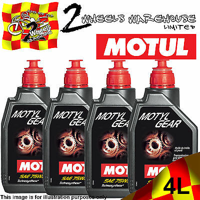 4x 1L MOTUL MOTYLGEAR SAE 75W90 DIFFERENTIAL & GEAR BOX SEMI SYNTHETIC FLUID OIL