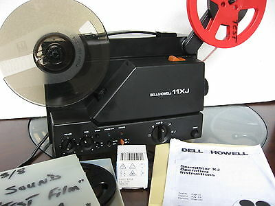 Bell & Howell  Super 8mm Sound  Vari-Spd Projector Xtra Bulb/ Film Tested