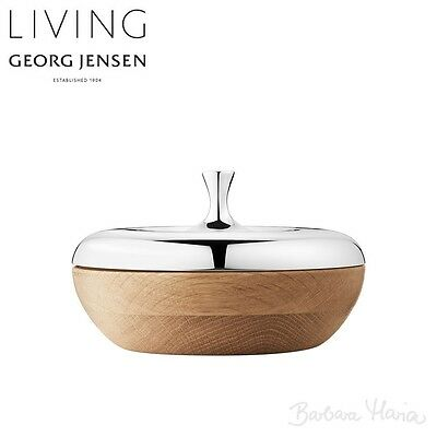 Georg Jensen Bonbonniere, Stainless Steel & Oak Wood - Bargain!!!