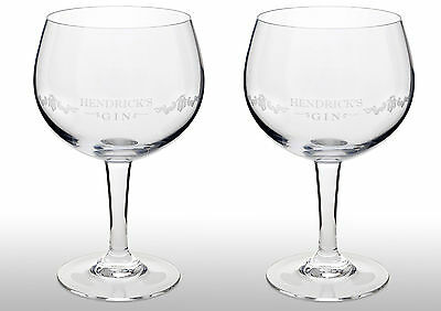 Hendricks Gin Goblet Glass X 2 New