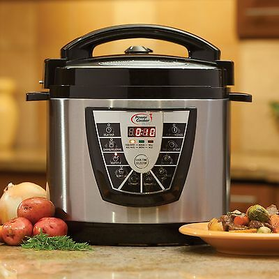New Digital Power Pressure Cooker Plus Electric 8 Quart Stainless Steel 2017