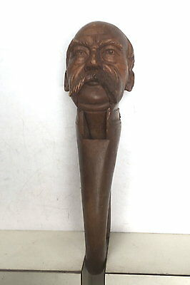 Hand Carved Wood Nutcracker Of Bismark Highly Detailed Black Forest?