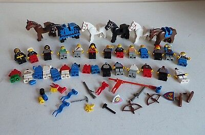 Joblot Bundle Mixed Genuine Lego Figures People, Horses & Accessories Weapon etc