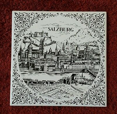 Vintage Salzburg German Tile made in West Germany for Ceramic Tile or Wall Decor