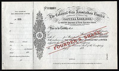 189_ Australien: The Colonial Gas Association Limited