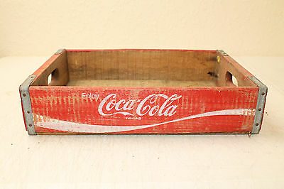 Coca Cola Bottle Crate Vintage Wooden Caddy Carrier Advertising Nice No Slots (F