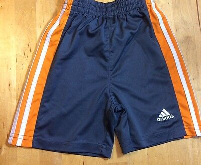 Boy's ADIDAS Shorts - Gray / Orange - Elastic Waist - 24 Months 2T