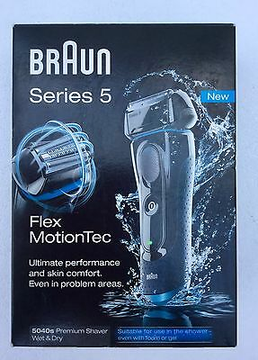 NEW BRAUN SERIES 5 Wet/Dry 5040s SHAVER- BOOTS RETAIL MODEL