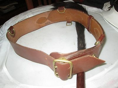 Leather Sam Brown Leather And Brass Army Belt