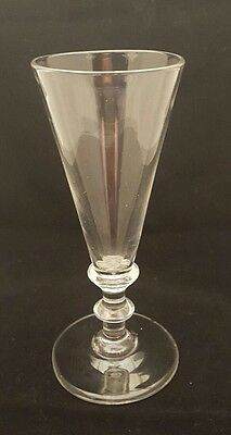 Antique tall ale wine glass 19th century