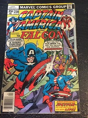 Captain America#220 Awesome Condition 6.5(1978) 1st Ameridroid App, Buscema Art!