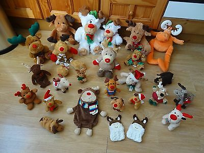 Bundle Of 25 Large & Small Plush Soft MOOSE & REINDEER 13 inches High max