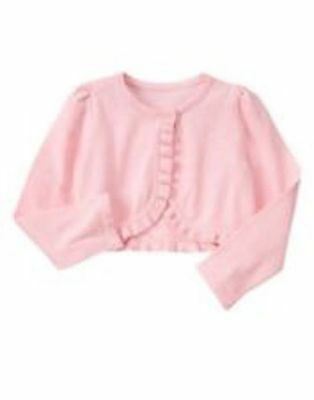 NWT Gymboree Egg Hunt Pink Crop Sweater Cardigan Girls Toddler 18-24M,7/8
