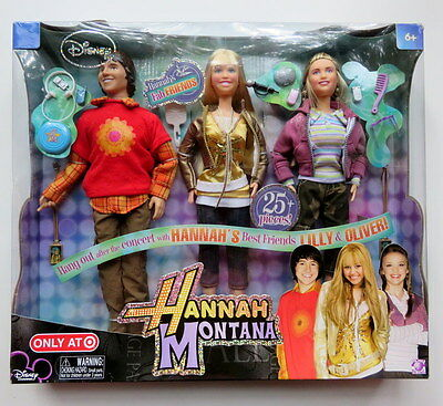 NEW Disney HANNAH MONTANA, LILLY & OLIVER Doll Set Fab Friends Target Exclusive