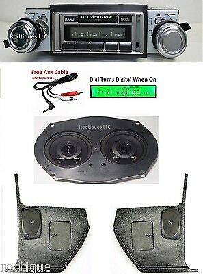 1967 Cutlass/442 Radio w/ Dash Speaker + Kick Panels 230 Stereo ** NO /AC