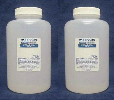 Lot Of 4 ~ Performance Irrigation Solution Sterile Water, 500 mL, C-37-6290