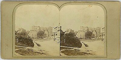 Stereoview, Kenilworth Castlefrom the road,  by London Stereo , England