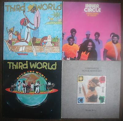 Roots Reggae Job Lot 4 X Vinyl Lp's (Thrid World, Inner Circle, Lp's)